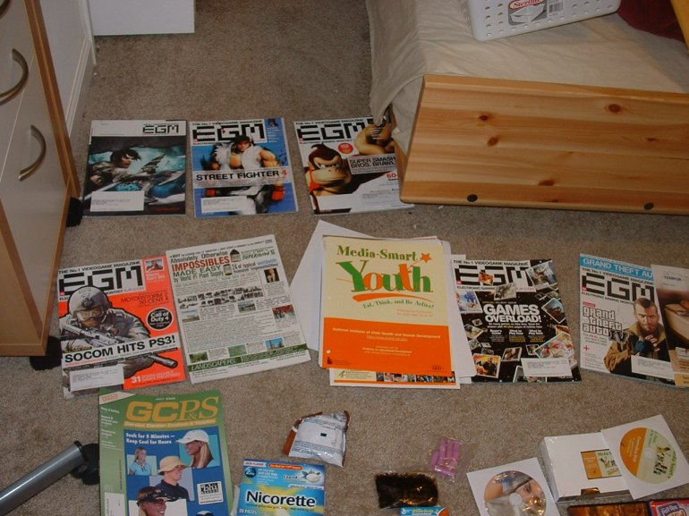 Magazines. I used to have more, but I got rid of them